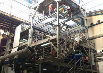 Naves Industriales-Estructura metálica para elvación de cubierta