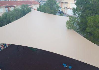 Arquitectura textil - Pergolas para jardines y parques con la mejor sombra.